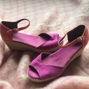 Toms sandals Wedge espadrilles size 7